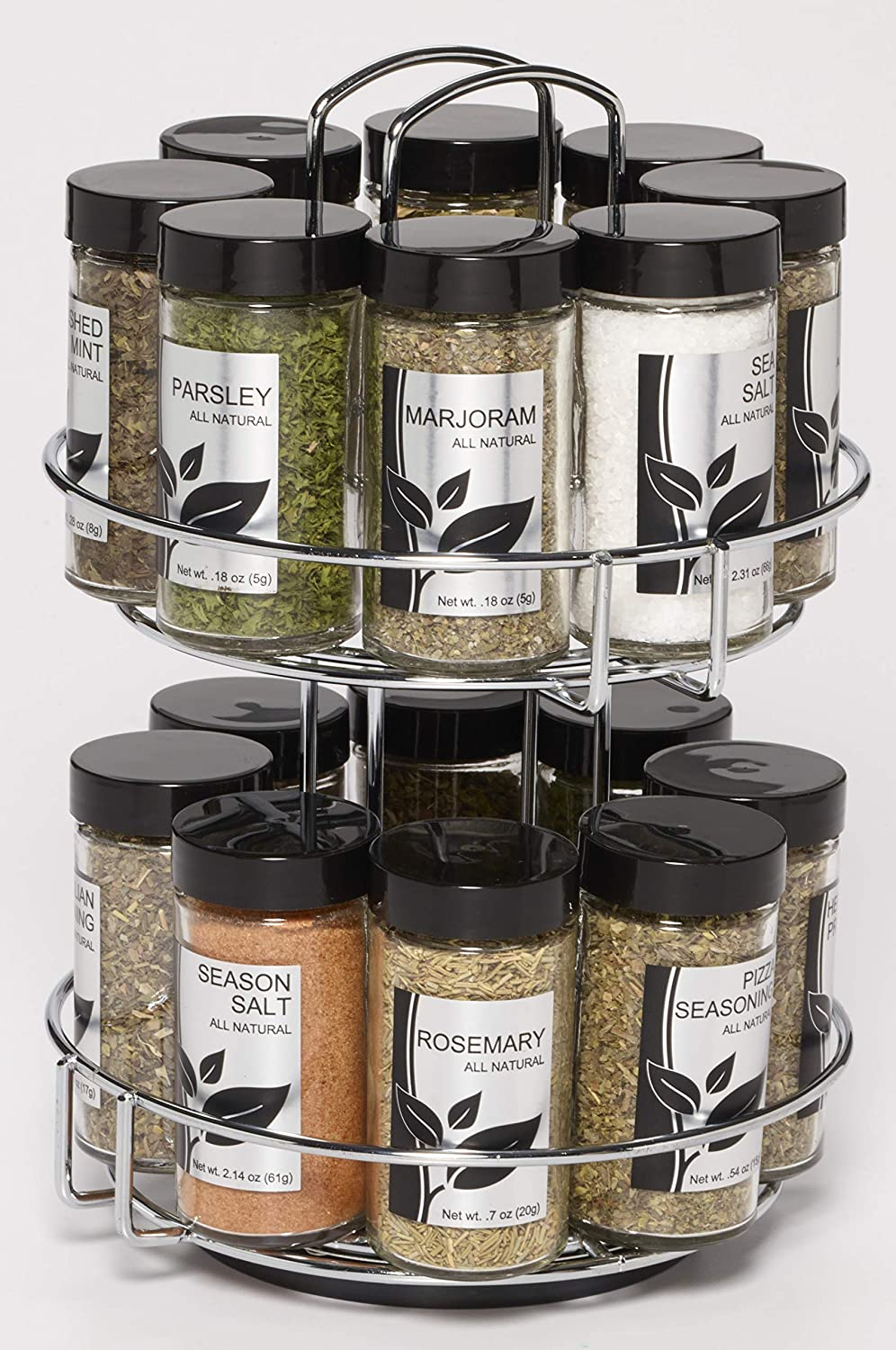 Amazon Com Kamenstein 16 Jar Spice Rack Kitchen Dining