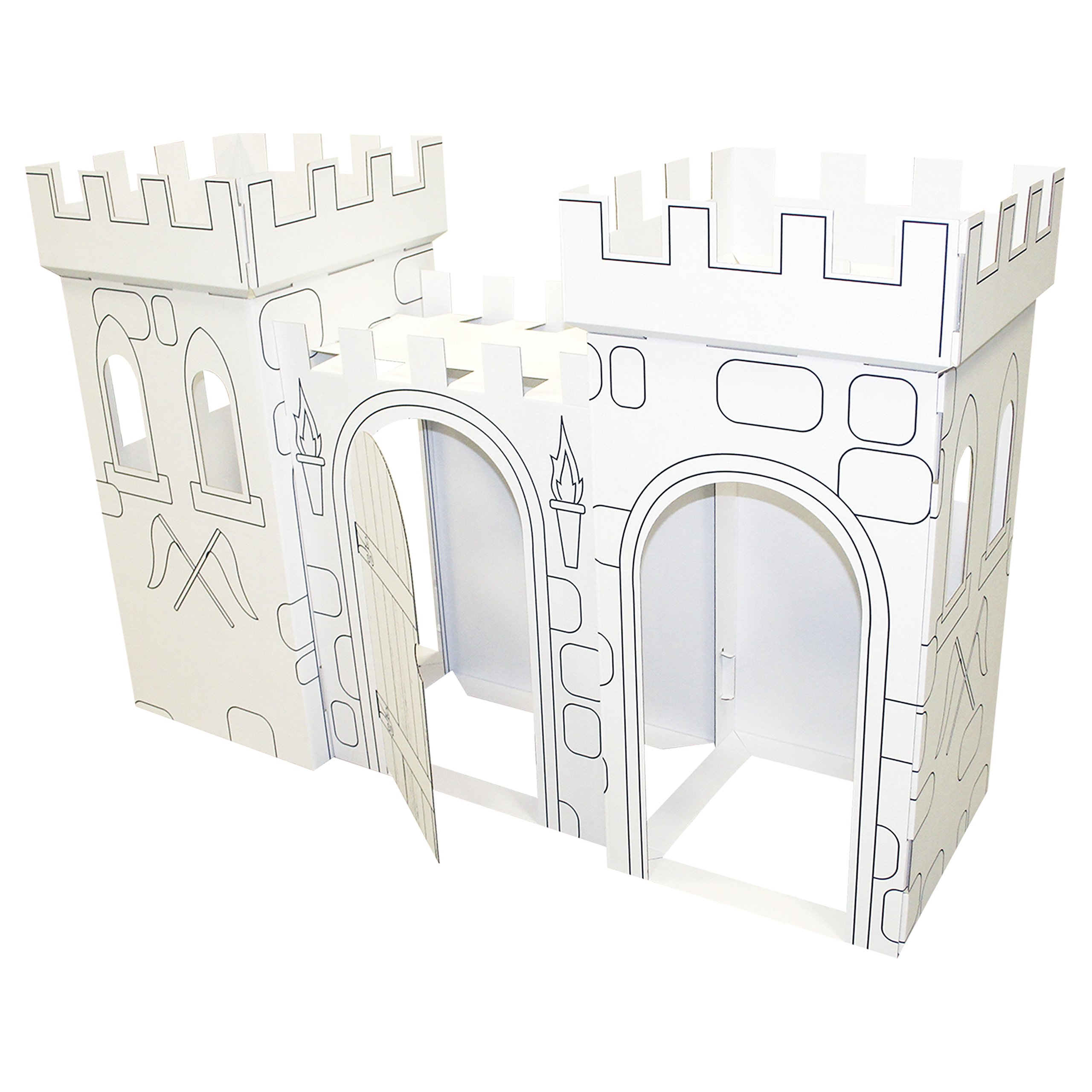 FunDeco Castle Playhouse White by FunDeco