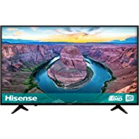 Hisense - H43AE6100UK - Smart TV with Freeview Play - 43-Inch 4K Ultra HD HDR - Black (2018 Model)