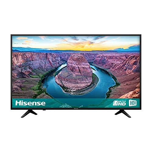 Hisense H50AE6100UK 50-Inch 4K Ultra HD HDR Smart TV with Freeview Play - Black (2018 Model)