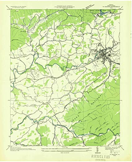 Marion Virginia Map.Amazon Com Yellowmaps Marion Va Topo Map 1 24000 Scale 7 5 X 7 5