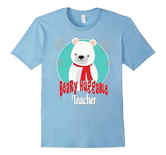 mens beary huggable teacher t shirts snowman christmas gifts 2xl baby blue