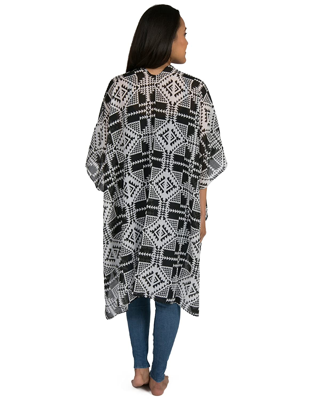 c683a90b7de94 Kindred Bravely Sheer Cardigan Nursing Wrap & Kimono (Black & White Geo  Print, One Size) at Amazon Women's Clothing store: