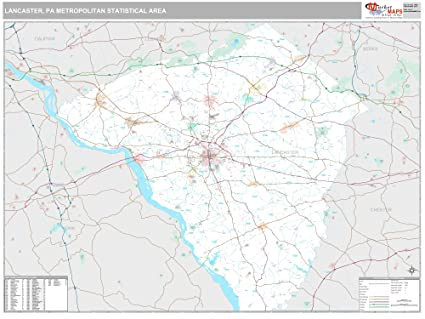 Amazon Com Marketmaps Lancaster Pa Metro Area Wall Map 2018