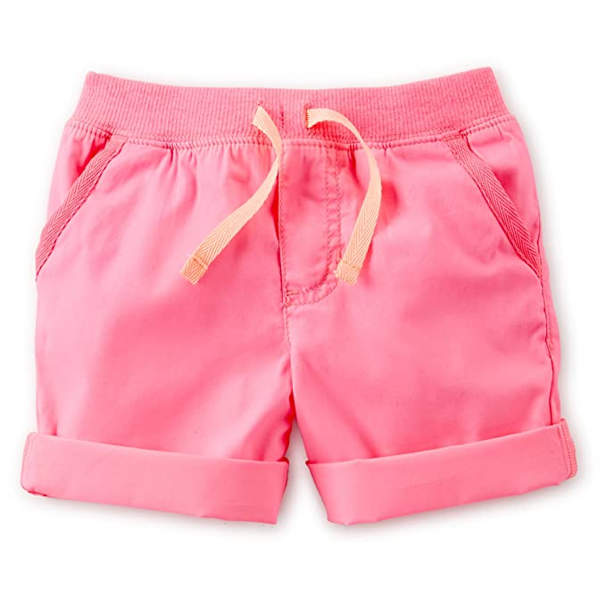 904280f9e4 Amazon.com: Carter's Girls Woven Poplin Roll Tab Shorts (2 Toddler ...