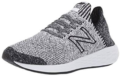 ca1b49cf11a68 New Balance Women's Cruz Sock Fit V2 Fresh Foam Running Shoe, Black/White,