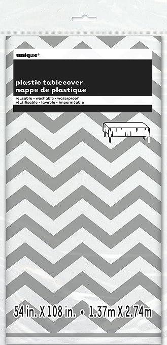 Chevron Plastic Tablecloth, 108u0026quot; X 54u0026quot;, ...