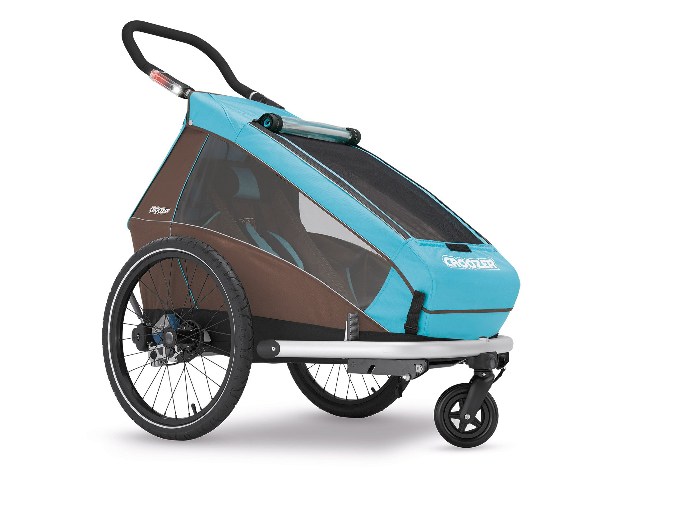 Croozer Kid Plus for 1 - 3 in 1 Single Child Trailer Sky Blue / Brown by Croozer (Image #2)