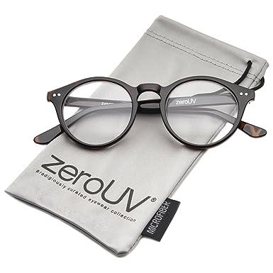41b194d8e6227 zeroUV - Vintage Inspired Clear Lens Small Circle Round Sunglasses  (Tortoise)  Amazon.co.uk  Clothing