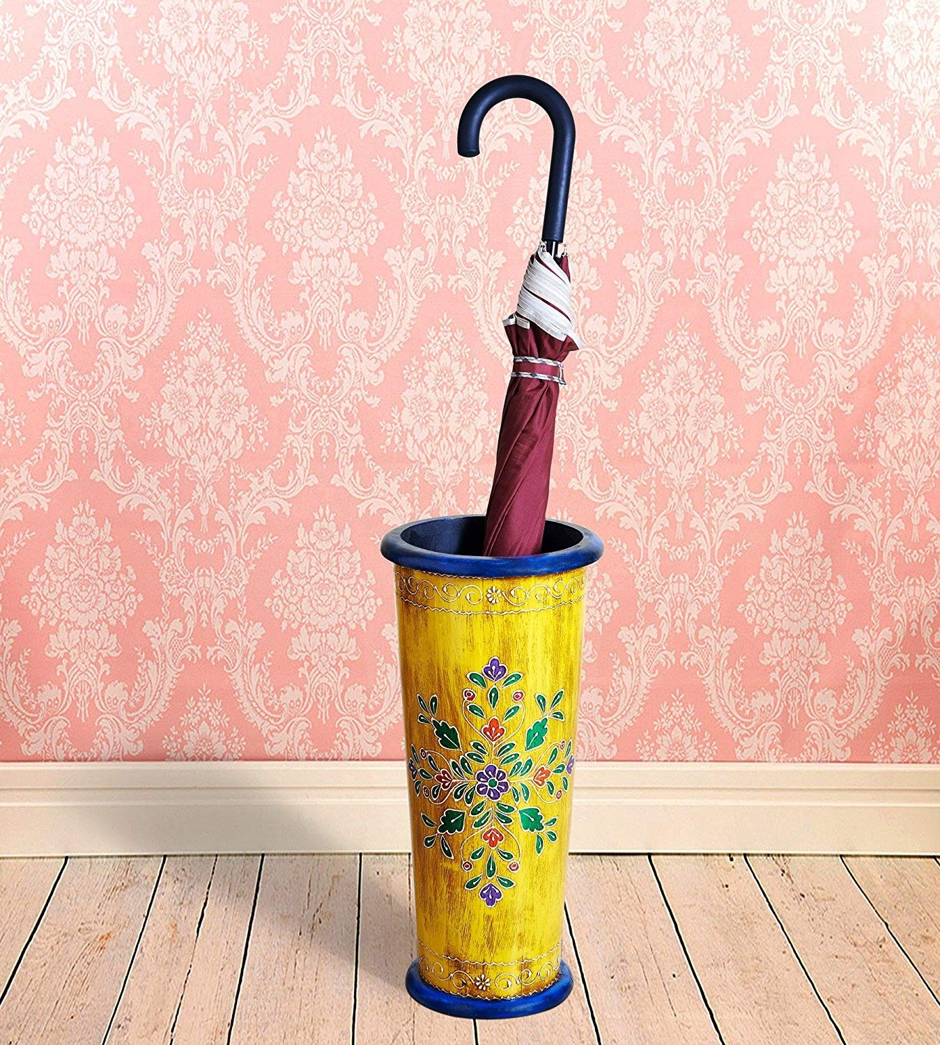 Simply Indian Handicrafts Vintage Rustic Hand Painted Wooden