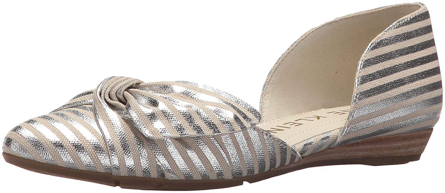 Anne Klein Women's Bette Ballet Flat B078HMHKZK 8.5 B(M) US|Silver/Natural