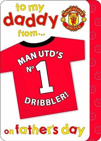 Amazon.com: Manchester United – Tarjeta de felicitación para ...
