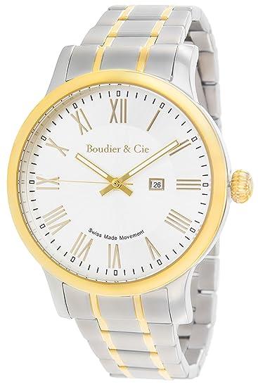 c88f1a098db8 Boudier   Cie BSSM209 - Reloj de Cuarzo Analogico con movimiento Suizo para  hombre