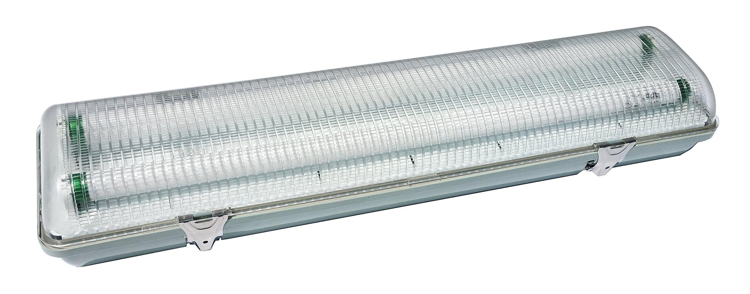 NICOR Lighting 52-Inch 2-Lamp T8 Fluorescent Vaportite Outdoor Light, Gray (20341) by NICOR Lighting