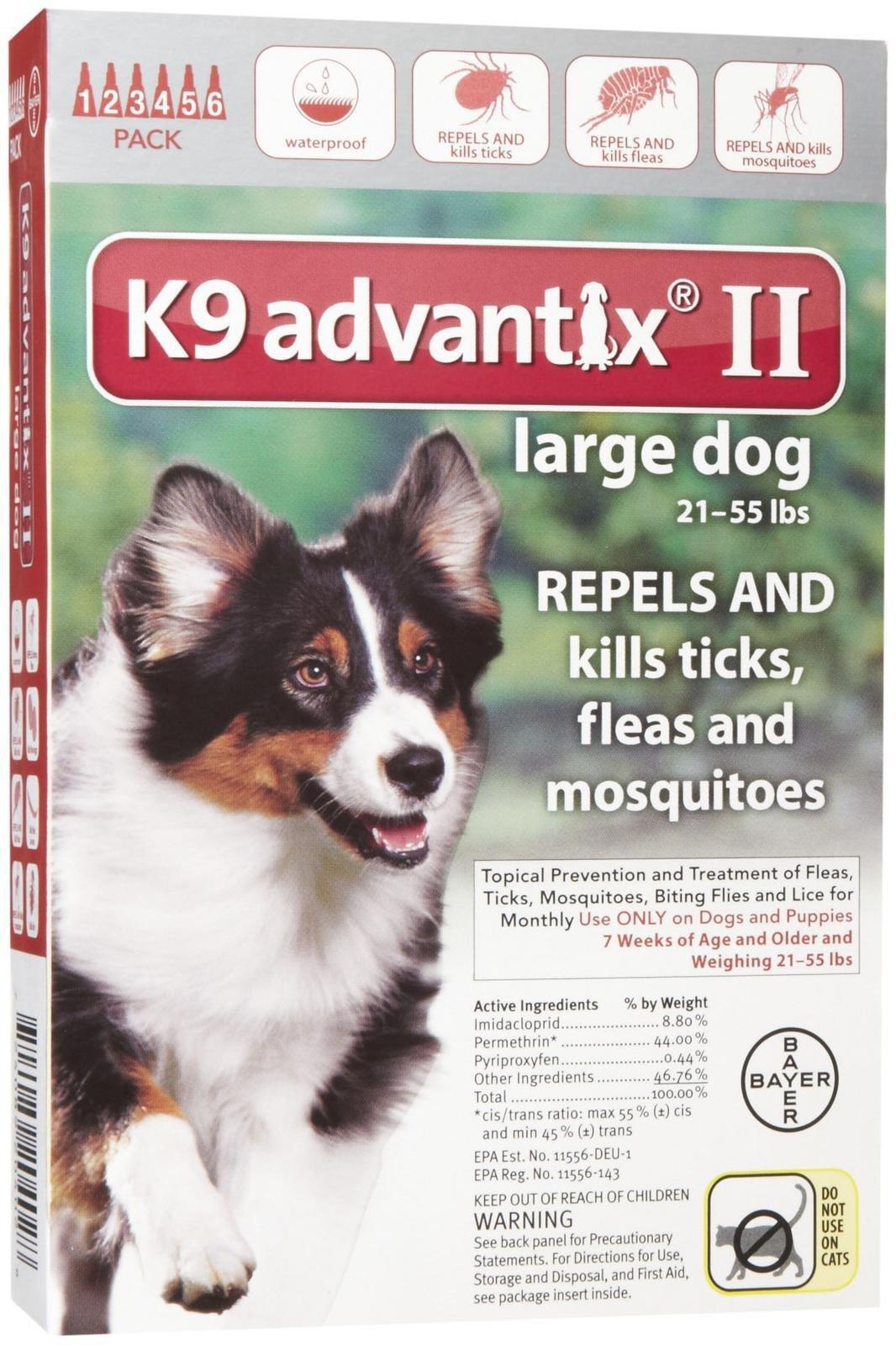 K9 Advantix II Flea and Tick Treatment - Large Dog - 6 ct