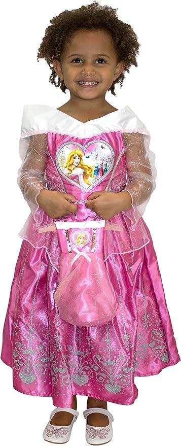 Disney Disfraz Vestido y Bolso para Niñas La Bella Durmiente Rosa ...