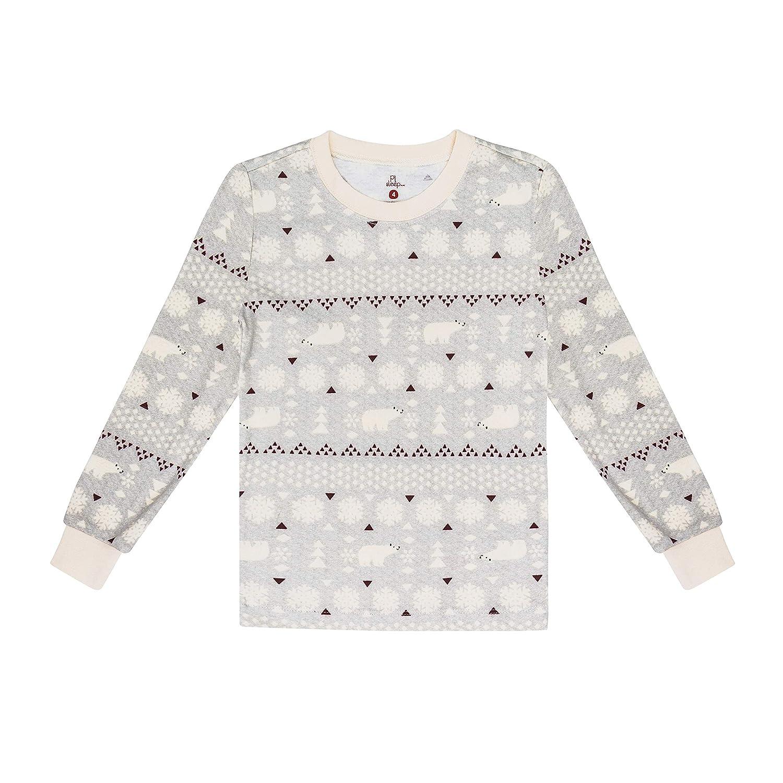 Cute and Cozy Softness Comfy Petit Lem Kids Little Holiday Unisex Pajama Set