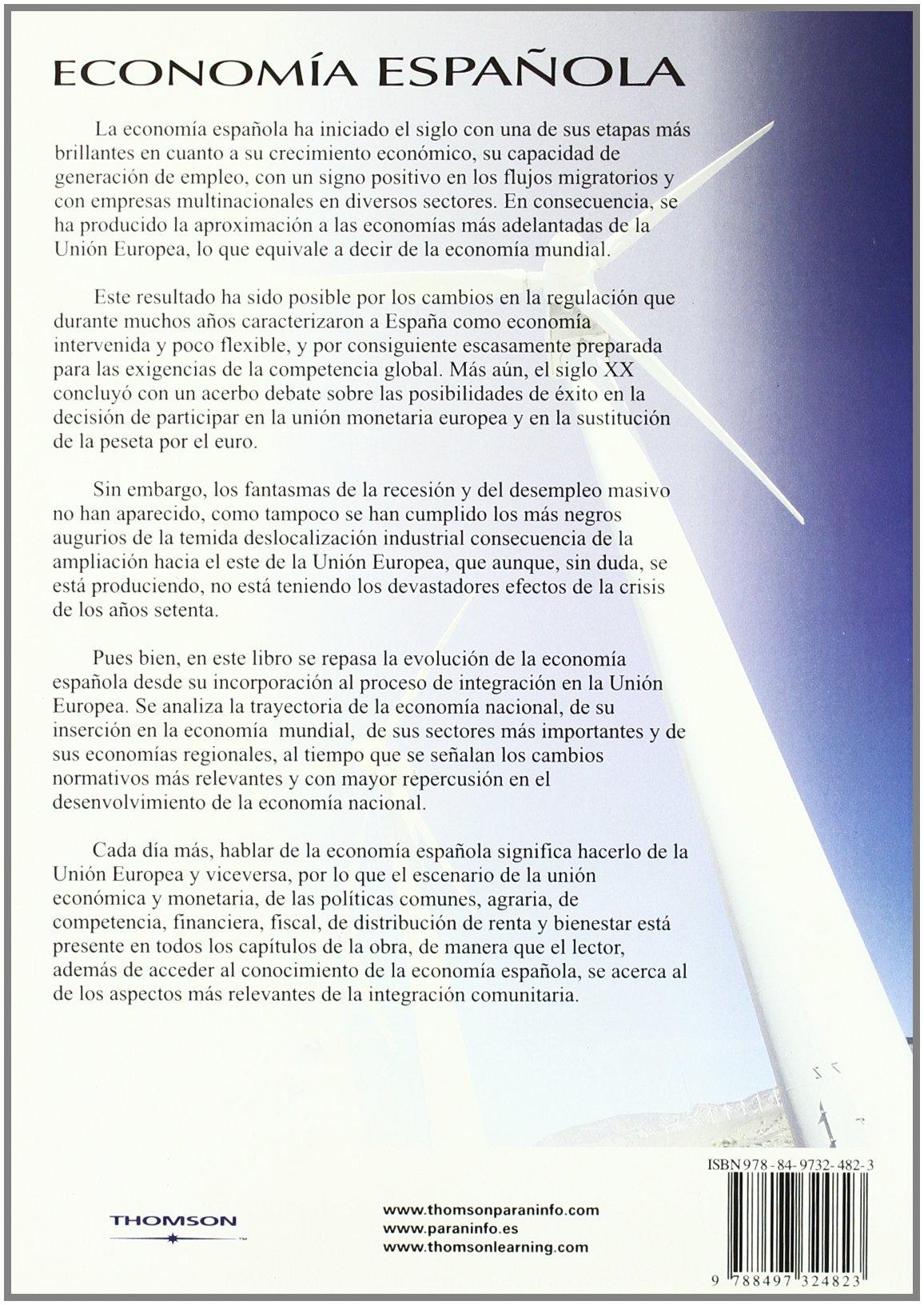 Economía española. Estructura y regulación: Amazon.es: GARCÍA DE LA CRUZ, JOSÉ MANUEL, RUESGA BENITO, SANTOS MIGUEL: Libros
