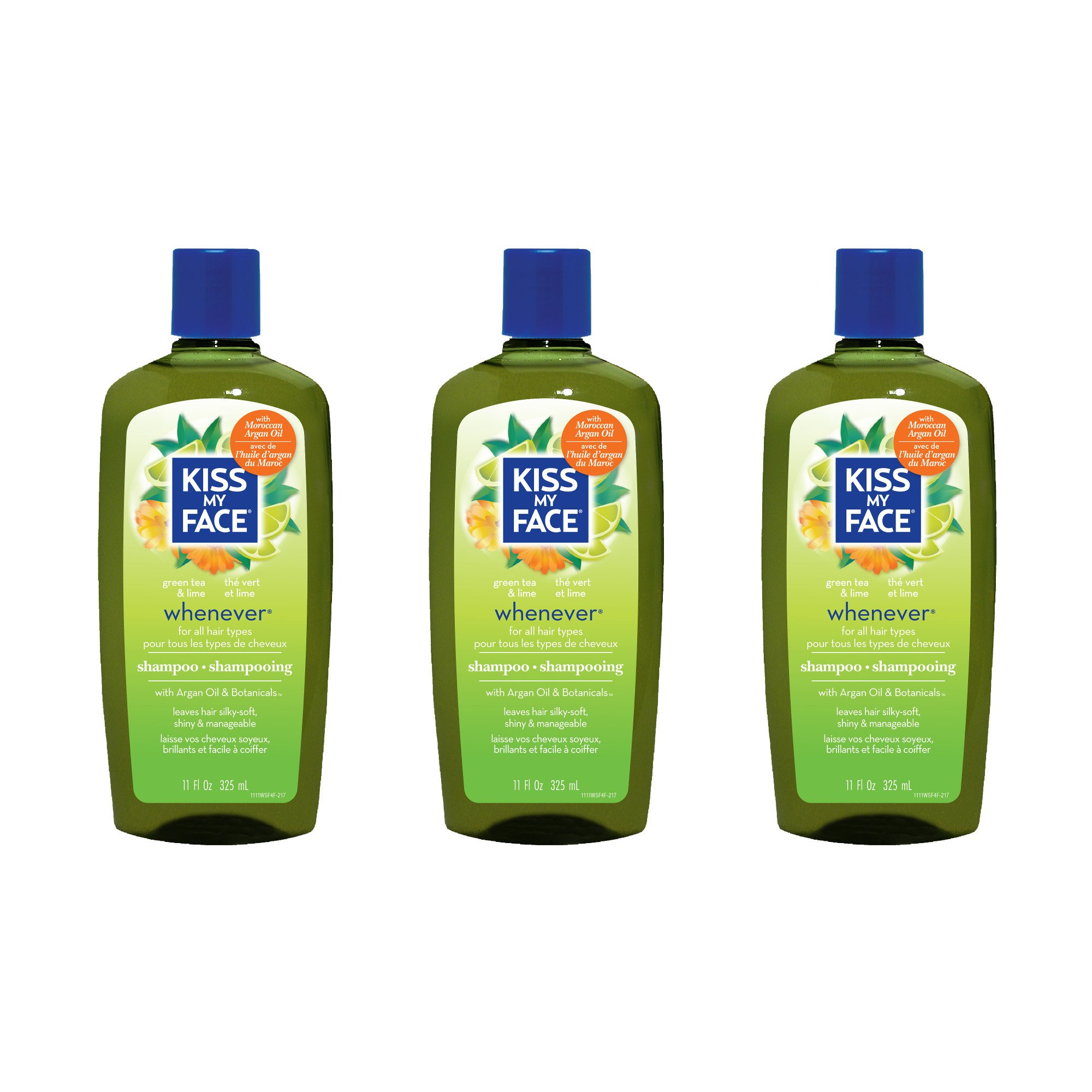 Kiss My Face Whenever Shampoo, Shampoo with Green Tea & Lime, 11 Ounce (Pack of 3) by Kiss My Face (Image #1)