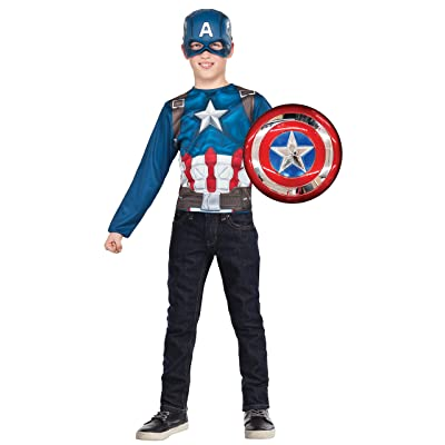 Imagine by Rubie's Avengers Assemble Child's Captain America Shield & Costume Top Set: Toys & Games