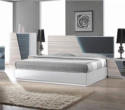 Amazon Com Best Master Furniture Zebra Gray Platform Bed Queen