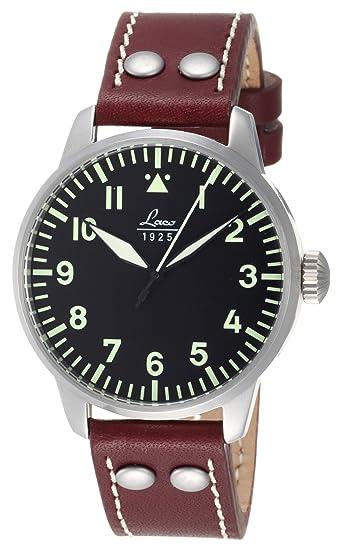Laco Augsburg 861688 - Reloj automático de cuarzo para caballero, esfera piloto Alemán tipo A