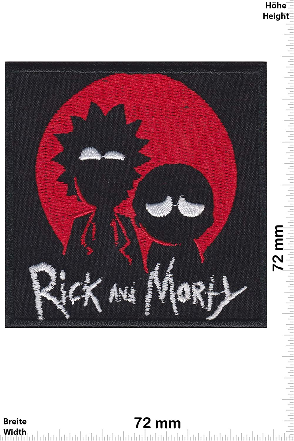 Patch - Rick and Morty - Cartoon -Movie -Rick and Morty - Iron on Applique Embroidery Écusson brodé Costume Cadeau- Give