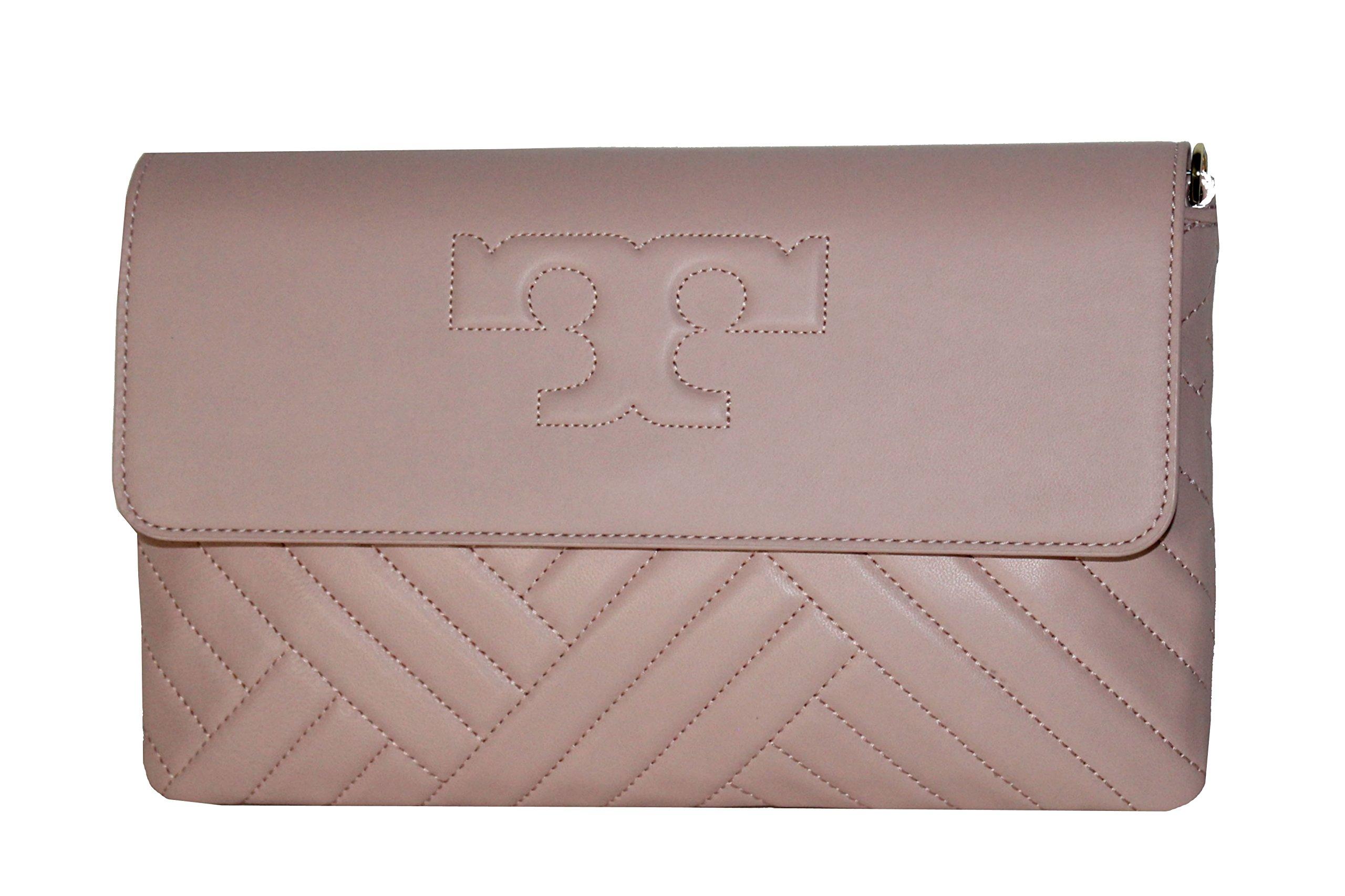 c4384566136 Galleon - Tory Burch Alexa Clutch Leather Women s Handbag Dark Pink Quartz