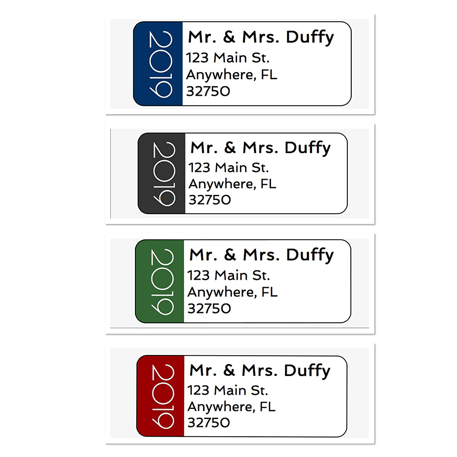 Amazon com personalized address labels new years 2019 set of 30