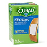 Curad Flex-Fabric Adhesive Bandages with Stretch to Conform to Wounds, 2 x 4