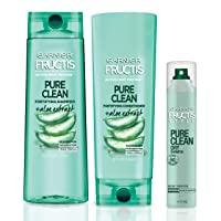 Garnier Hair Care Fructis Pure Clean Shampoo, Conditioner, and Dry Shampoo, Made...