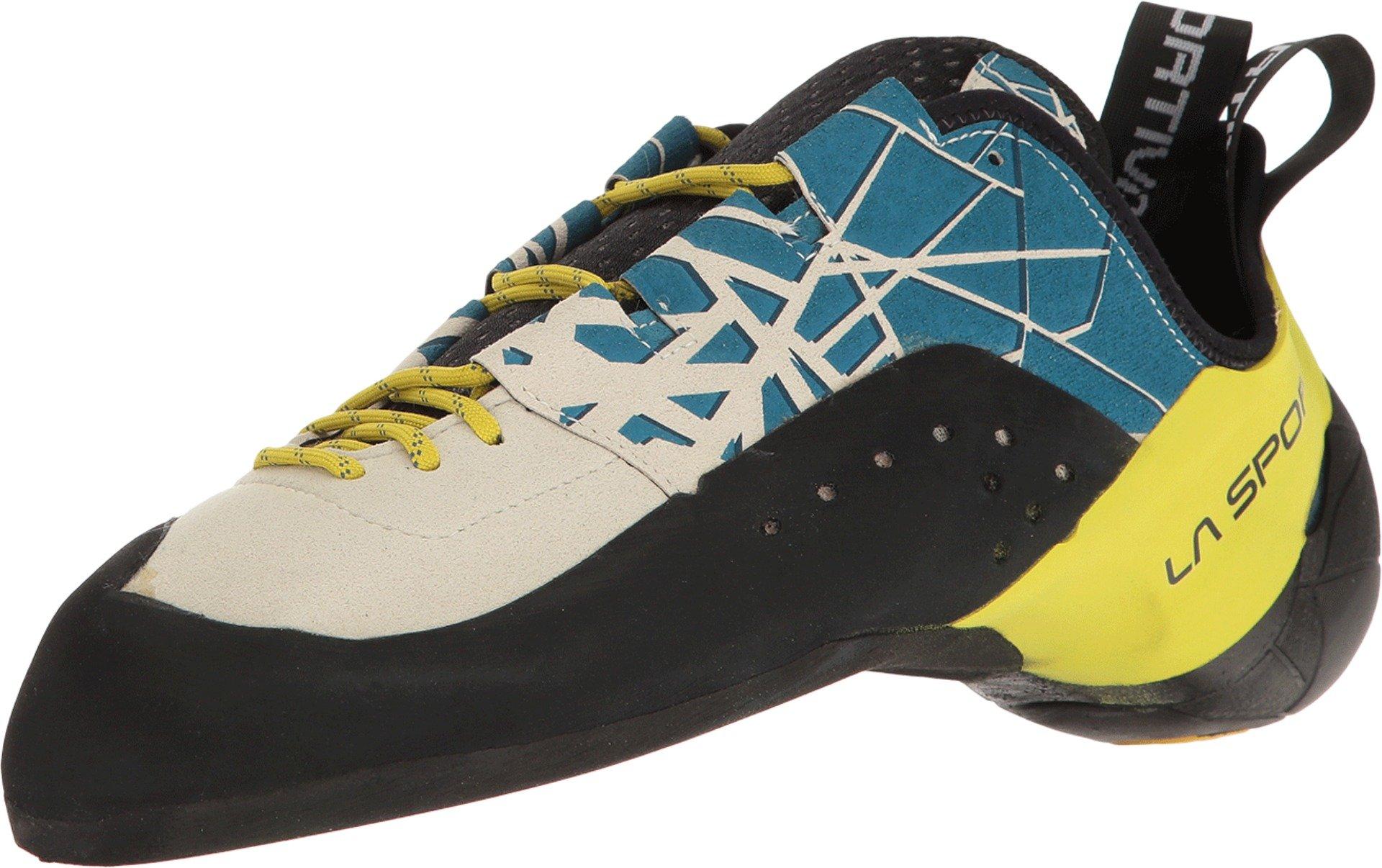 La Sportiva Men's Kataki Climbing Shoe, Ocean/Sulphur, 44 by La Sportiva