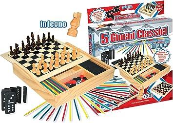 rstoys 8181 juegos reunidos madera 5 en 1: Amazon.es: Juguetes y juegos