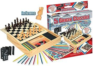 Rstoys 8181 Juegos Reunidos Madera 5 En 1 Amazon Es Juguetes Y Juegos