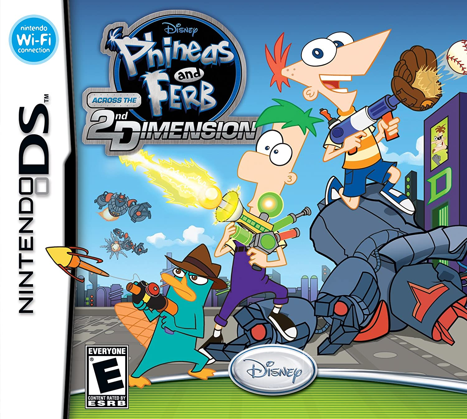 Amazon Com Phineas And Ferb Across The 2nd Dimension Nintendo Ds Disney Interactive Video Games