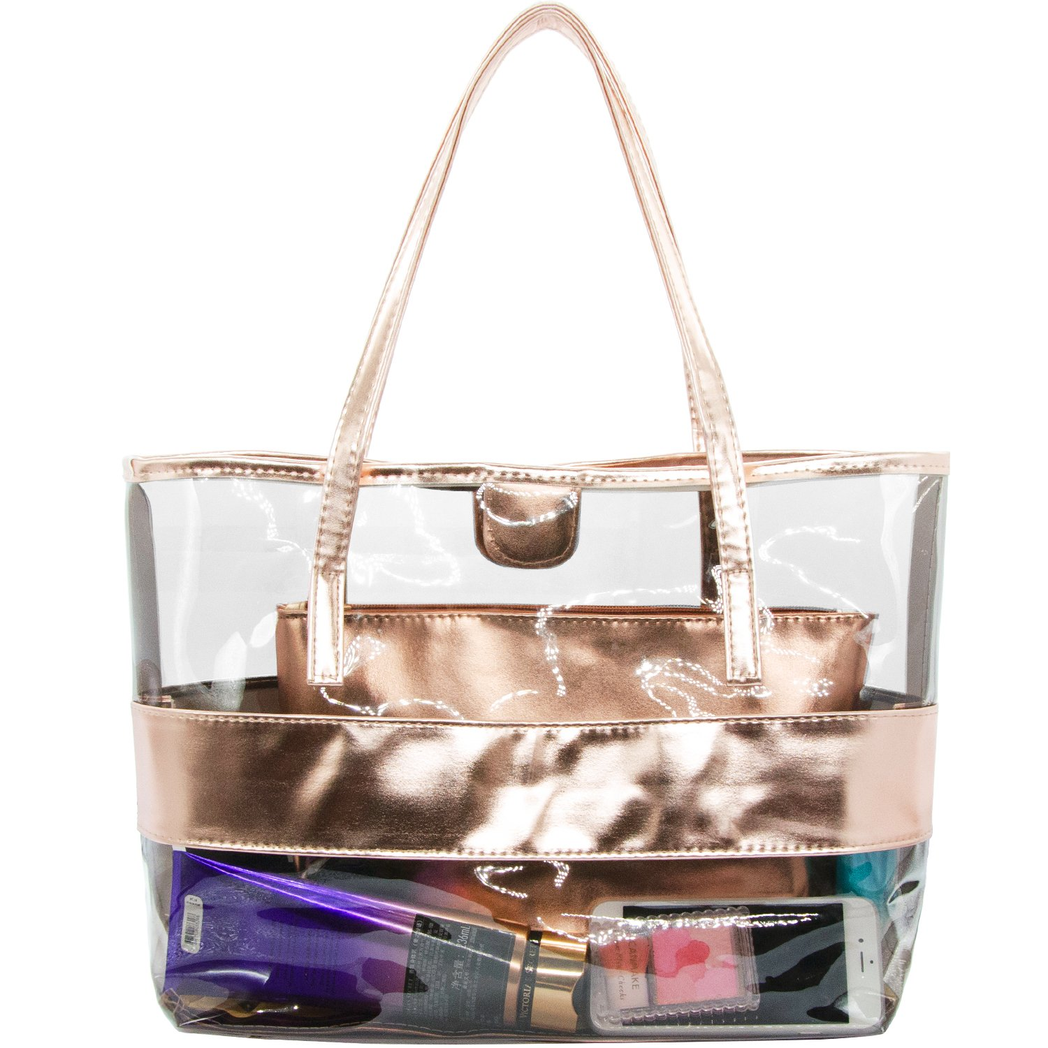 8831a8c4a8 ANXVERS 2 in 1 Cosmetic Bag Portable Toiletry Bag Clear PVC Travel Case  Makeup Organizer Bag