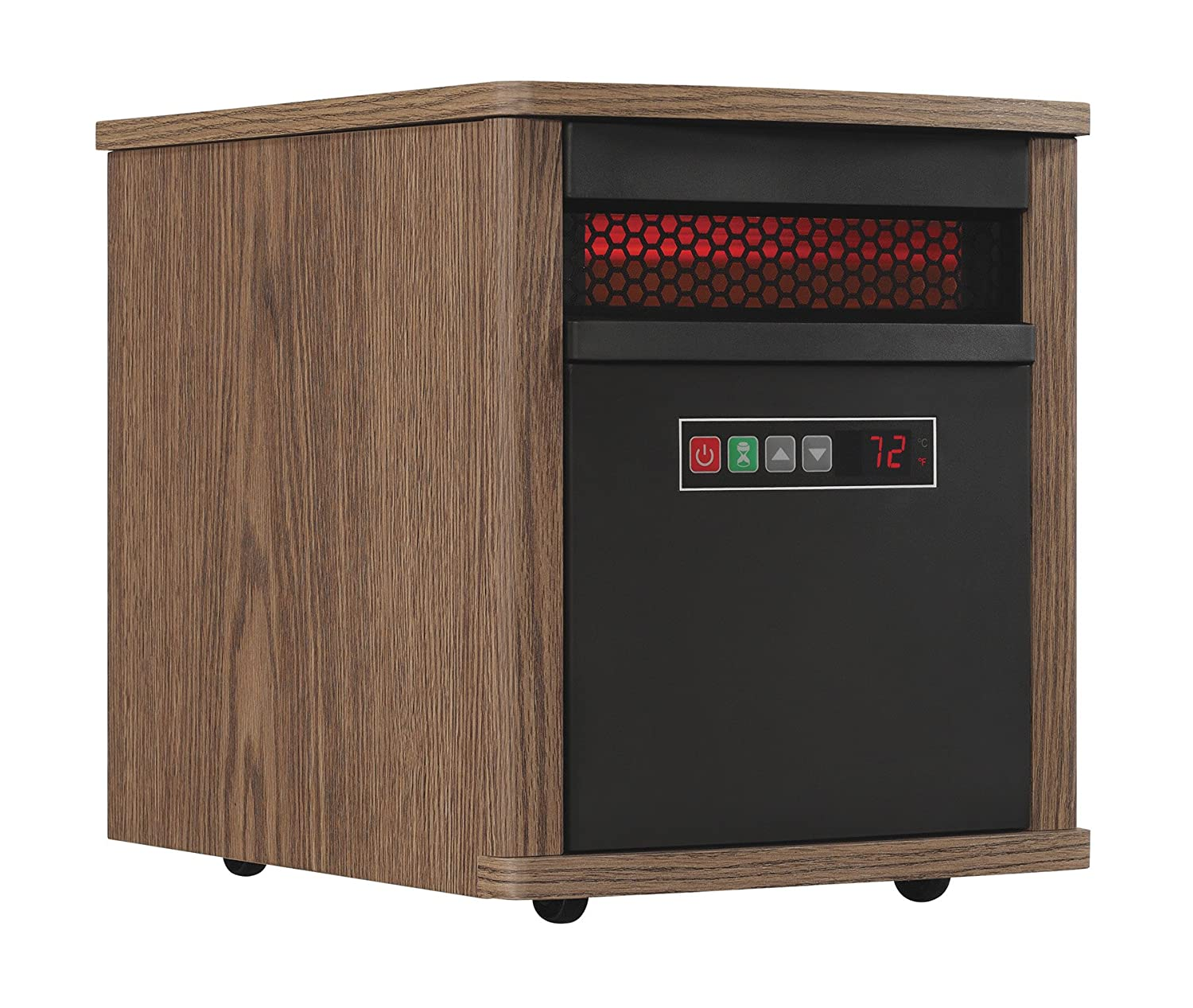 Duraflame Electric Portable Infrared Quartz Space Heater, Dark Oak