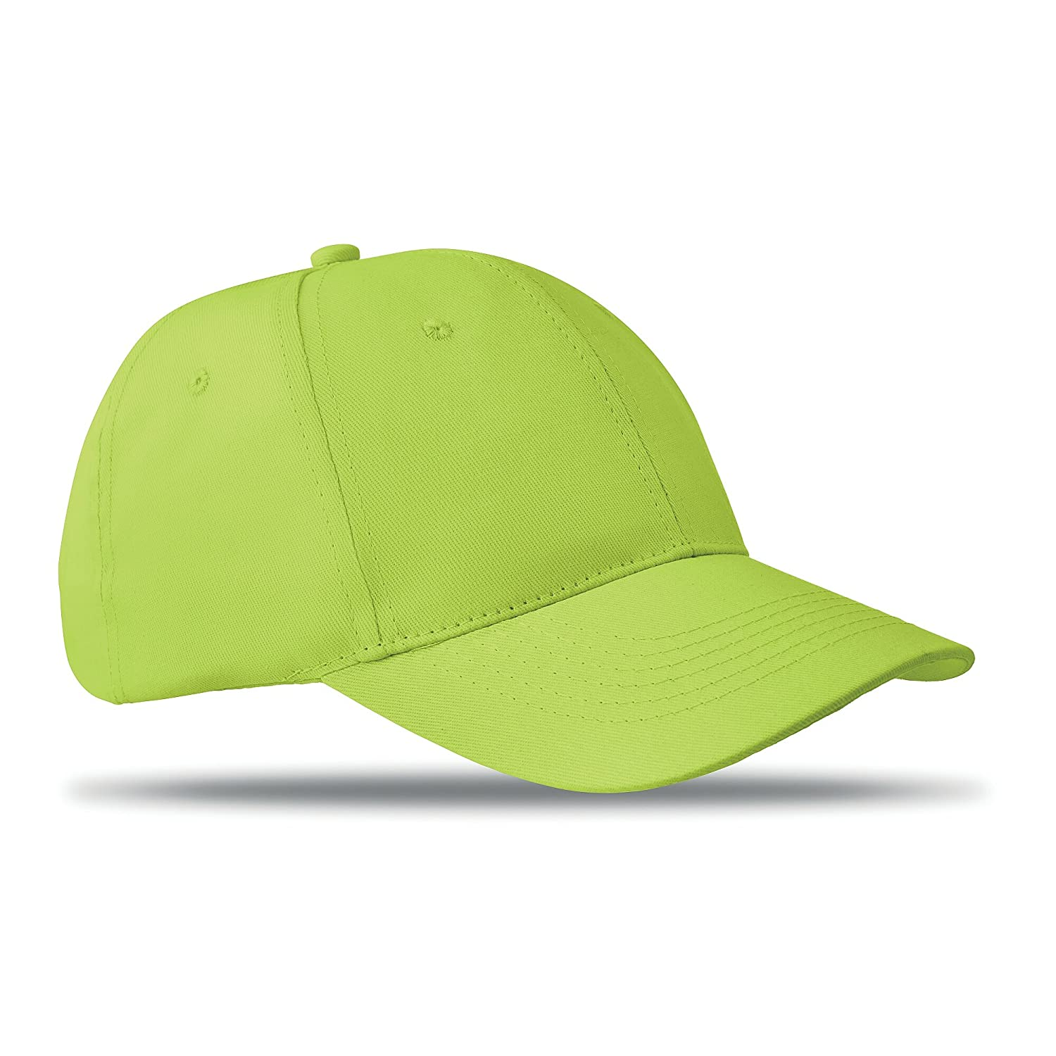 6 panel, structured cap, self fastener closure 100% cotton - yellow PromotionGift 10201860