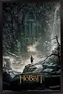 """Trends International Hobbit: The Desolation of Smaug-One Sheet Wall Poster, 22.375"""" x 34"""", Black Framed Version"""