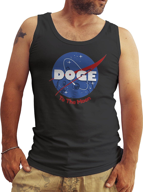 Doge NASA Logo Fun Negro Hombres Camiseta Sin Mangas Tank Tops Large: Amazon.es: Ropa y accesorios