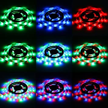 Led Light Strips Sunsbell Battery Powered LED Rope Lights Waterproof Flexible SMD 3528 LED Strip Lights  sc 1 st  Amazon.com & Amazon.com : Led Light Strips Sunsbell Battery Powered LED Rope ... azcodes.com