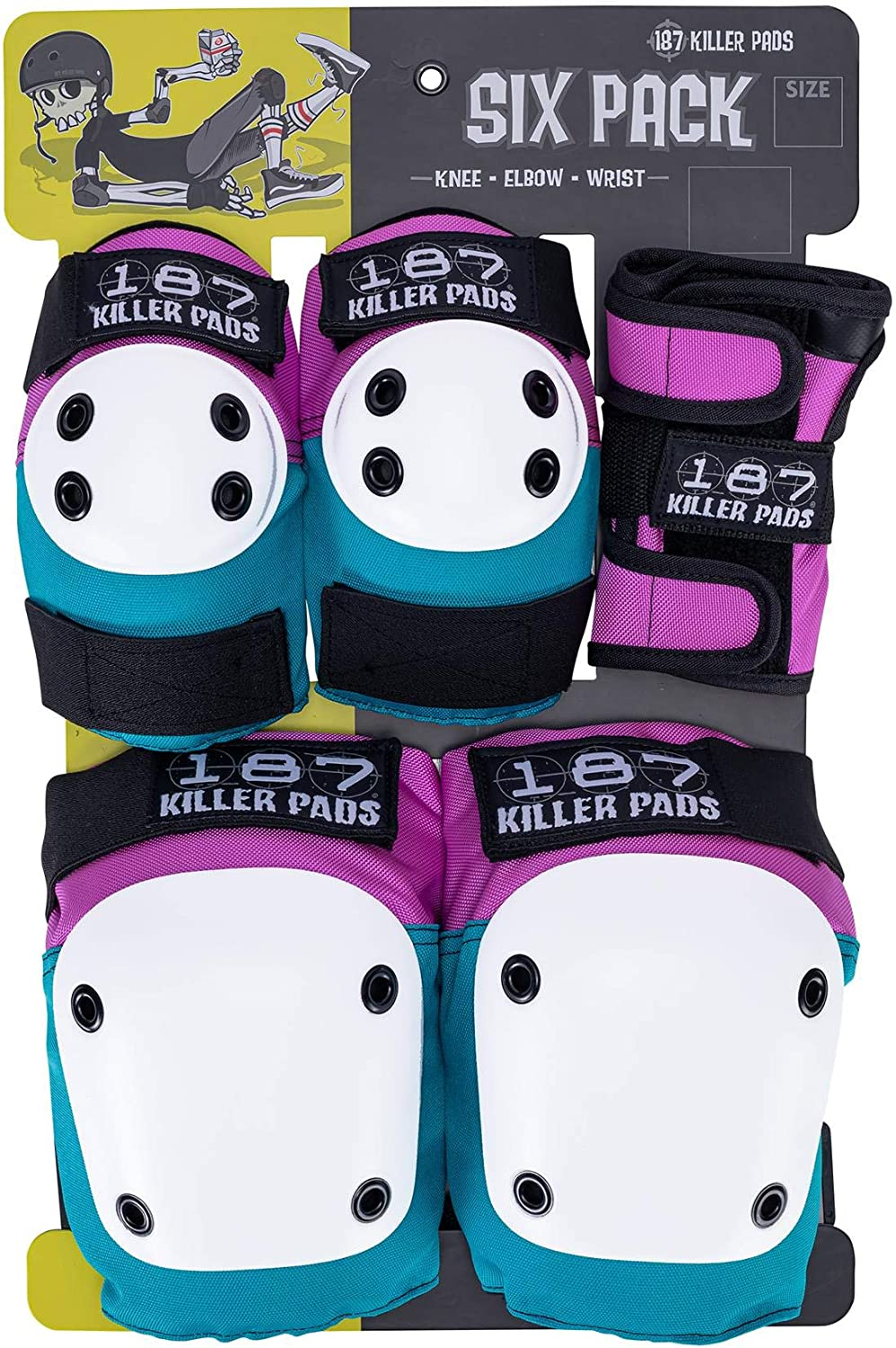 Elbow Pads 187 Killer Pads Skateboarding Knee Pads Six Pack Pad Set and Wrist Guards