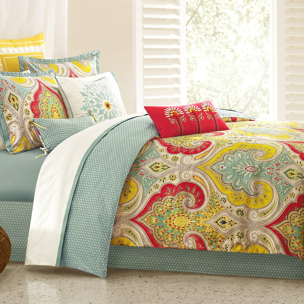 amazoncom echo jaipur queen comforter set home  kitchen -