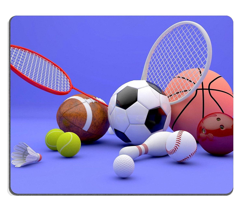 Mousepads varios deportes equipo incluido un balón de fútbol de ...