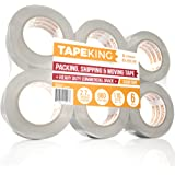 Tape King Clear Packing Tape - XL 110 Yards Per Roll (6 Rolls) - 1.88 Inch Wide Stronger & Thicker 2.7mil, Heavy Duty Adhesive Industrial Depot Tape for Moving Packaging Shipping, Office & Storage