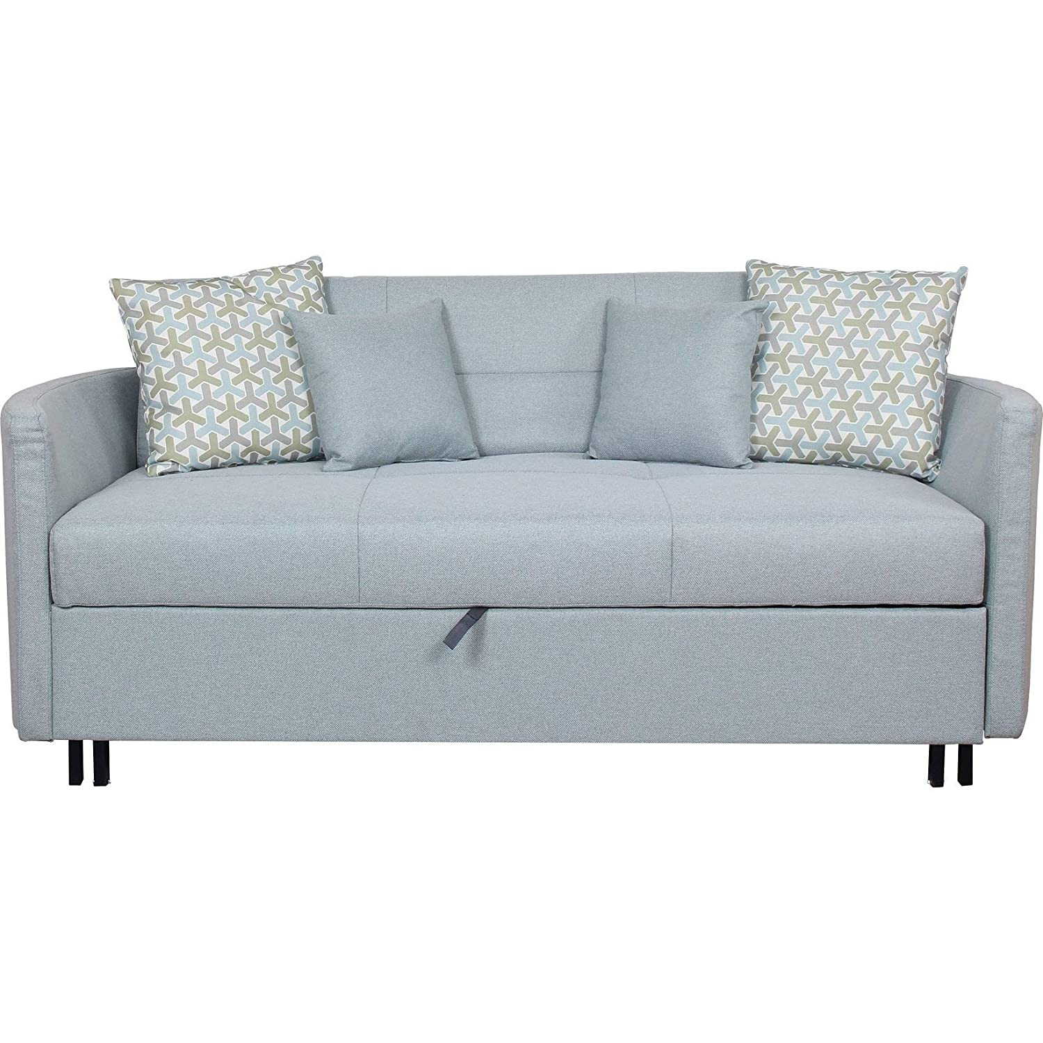 Amazon.com: Overstock Furniture Convertible Sofa with ...