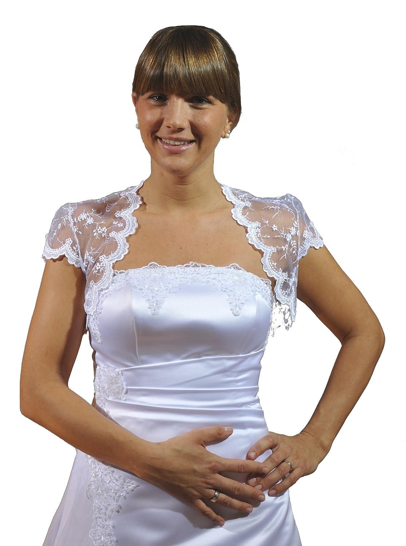 Bridal bolero jacket, lace, short sleeve