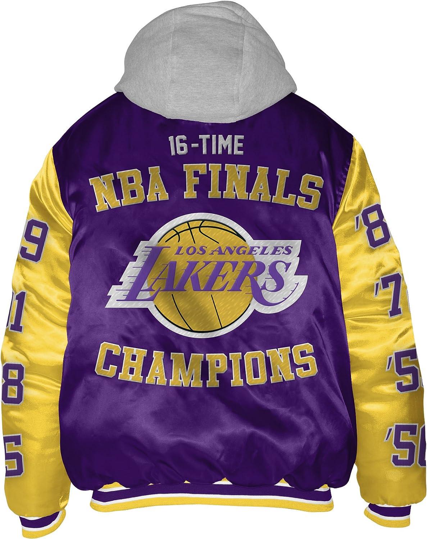 Amazon Com Los Angeles Lakers Sixteen Time Championship Satin Jacket Xxxxl Clothing