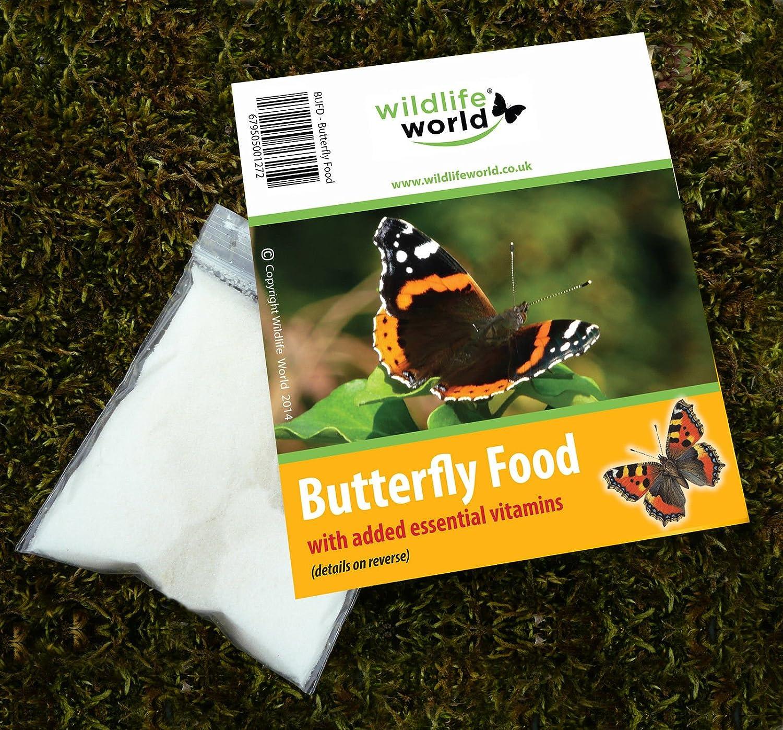 Wildlife World Schmetterling Futter mit Vitaminen (3 Stück)