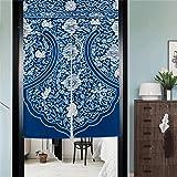 Signor–Fantasia–Cotone Lino stampato giapponese etnica Noren tenda di Porta a porta Drapes di Inverno di Porta Decor, G, 85x120cm